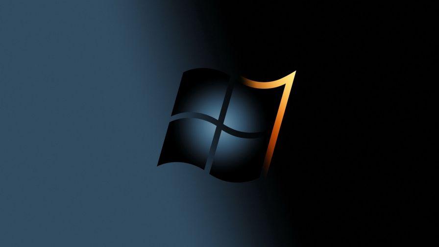 Windows 7 Black And Yellow Logo Hd Wallpaper Wallpapersnet