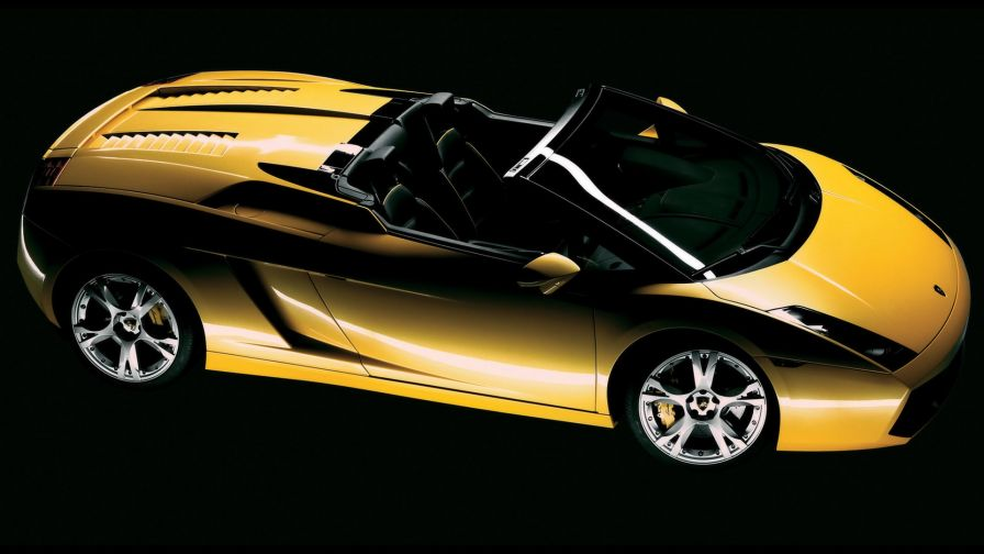 Yellow Lamborghini Gallardo HD Wallpaper
