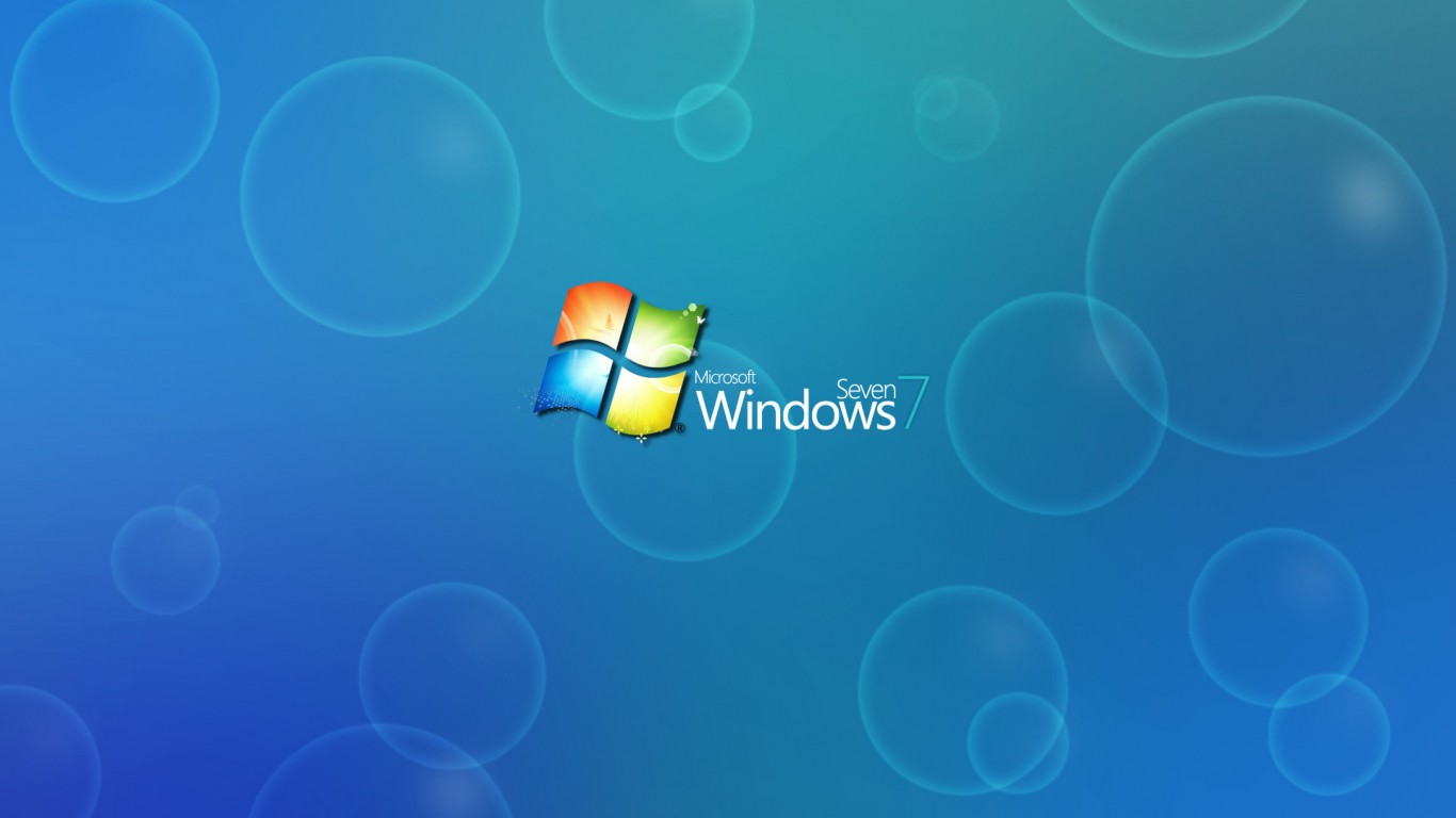 Windows 7 Logo Hd Wallpaper 1366x768 Hd Wallpaper