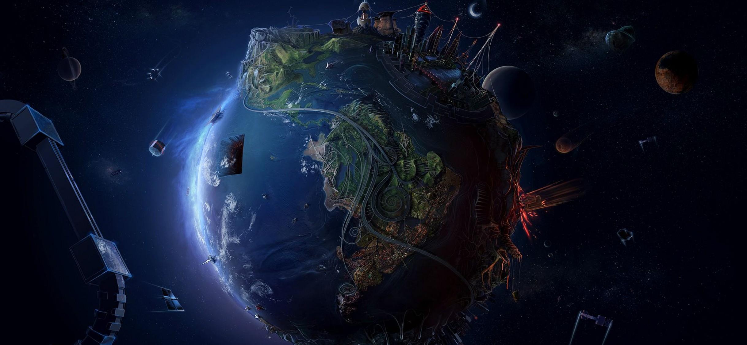 World At Night Hd Wallpaper Iphone X Hd Wallpaper