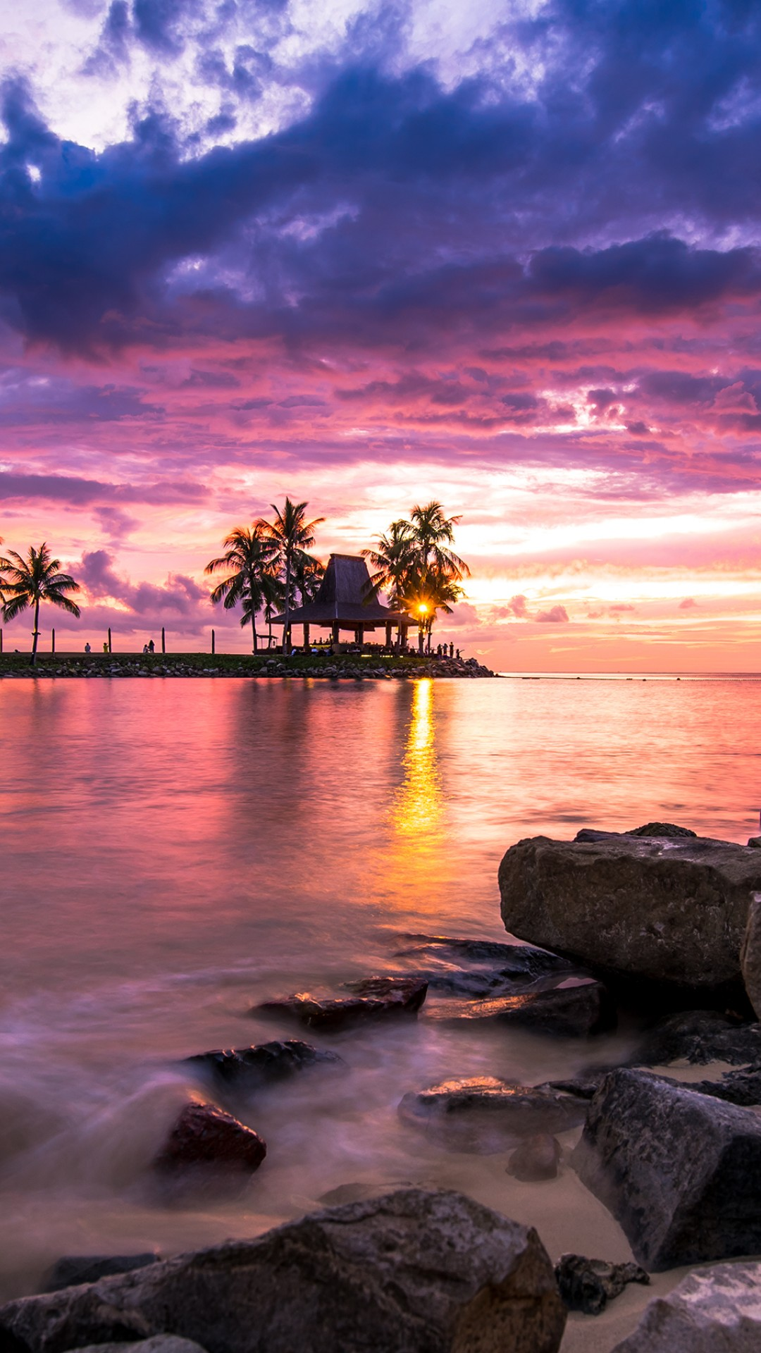 Beach Sunset Wallpaper For Desktop And Mobiles Iphone 6 6s
