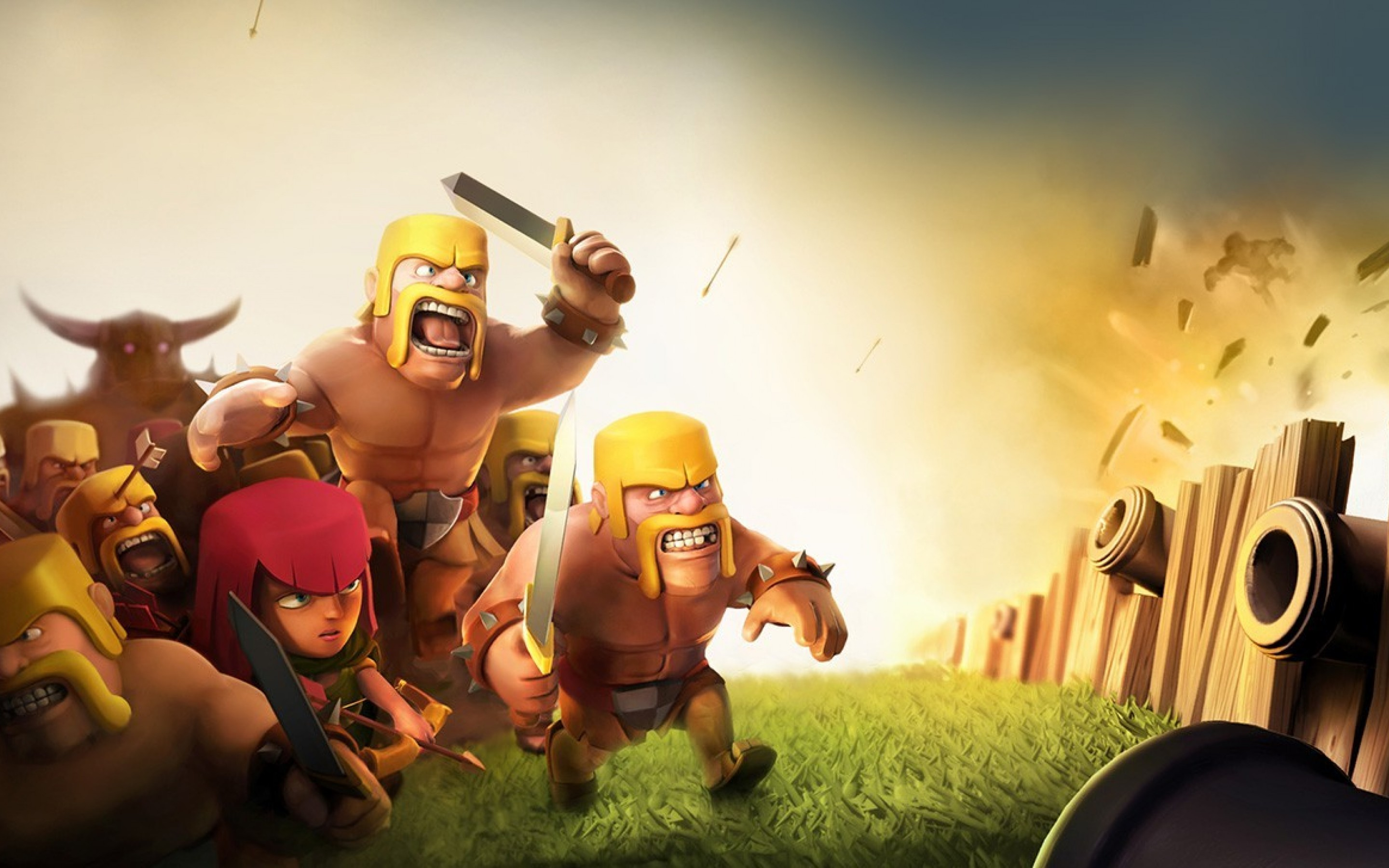 Clash Of Clans Coc Wizard 3d Wallpaper For Desktop And Mobiles 15