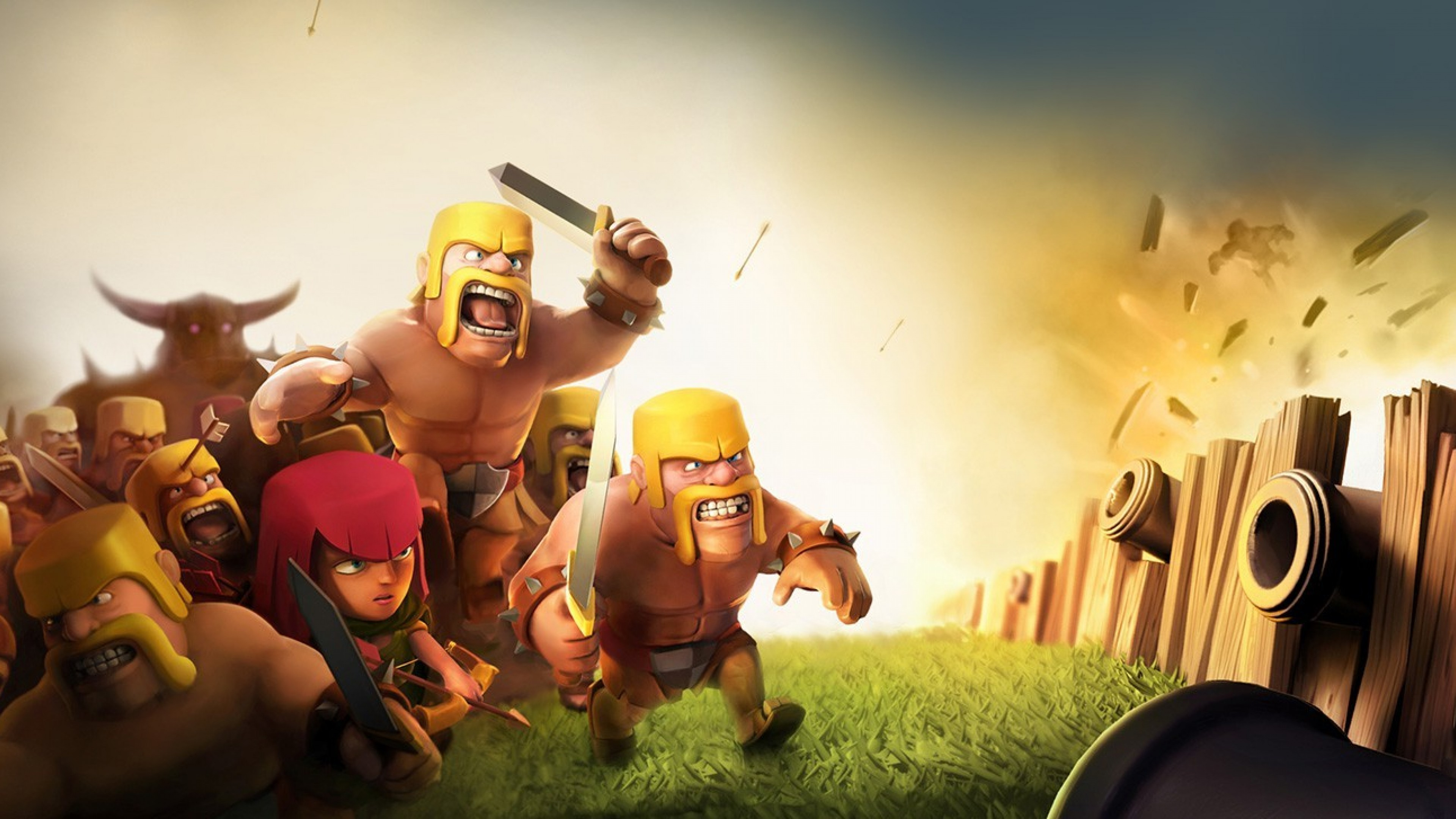 Clash Of Clans Coc Wizard 3d Wallpaper For Desktop And Mobiles 4k