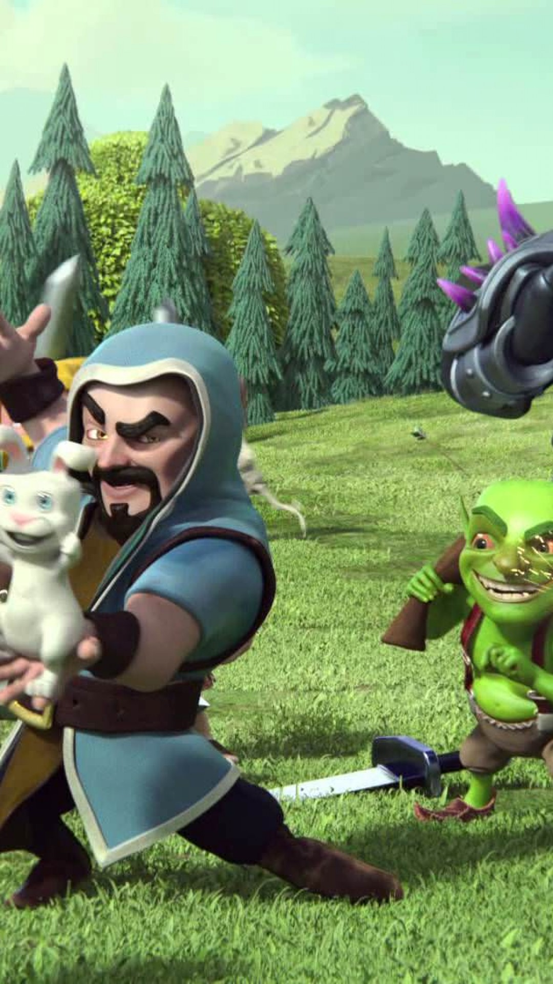 Clash Of Clans Wizard Hd Wallpaper For Desktop And Mobiles Iphone