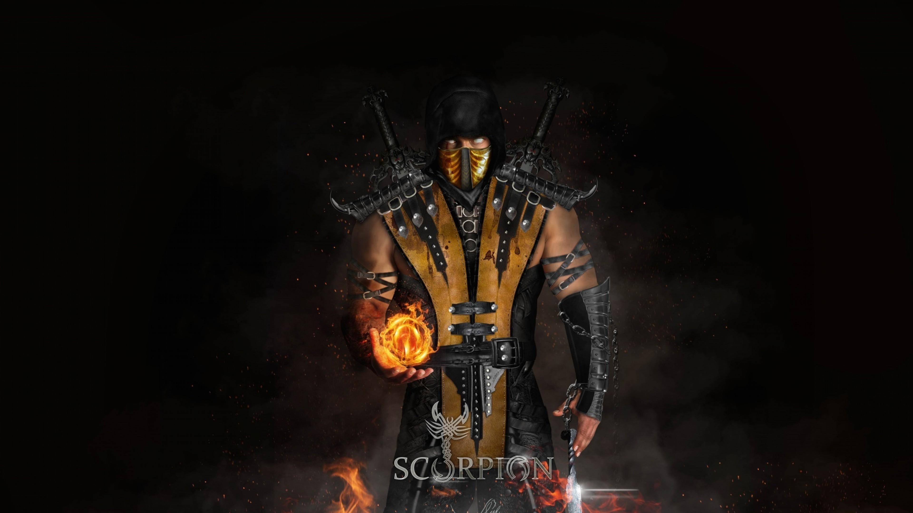 Scorpion Cool Mortal Kombat X Hd Wallpaper For Desktop And Mobiles 4k Ultra Hd Hd Wallpaper Wallpapers Net