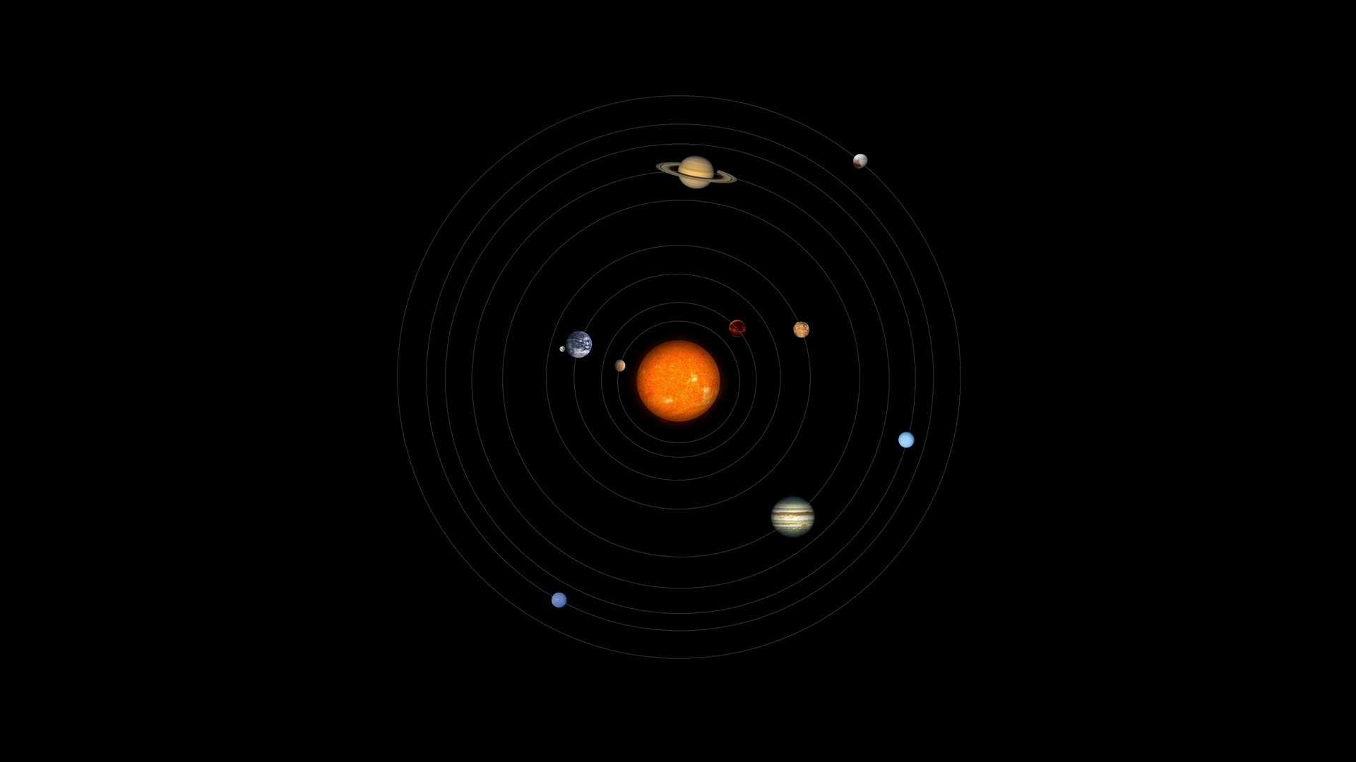 Solar System Circles Hd Wallpaper Iphone 7 Plus Iphone 8