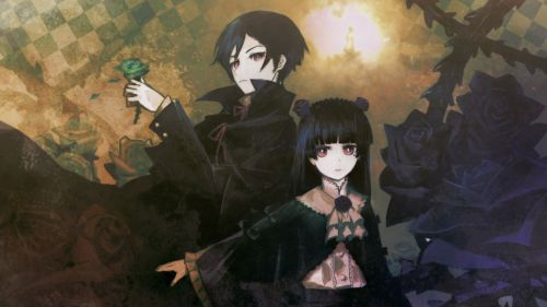 Anime Goth Flowers HD Wallpaper