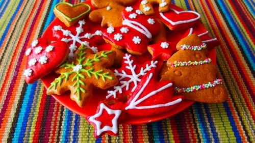 Assorted Christmas Pastries HD Wallpaper