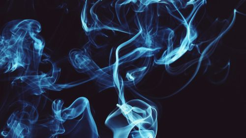 Blue smoke clots HD Wallpaper