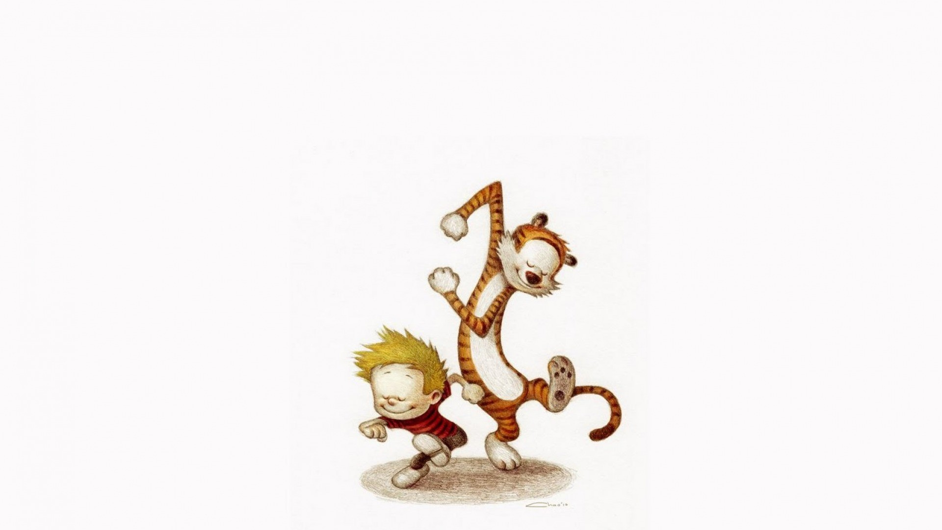 Calvin And Hobbes Dancing Hd Wallpaper Iphone 7 Plus Iphone 8