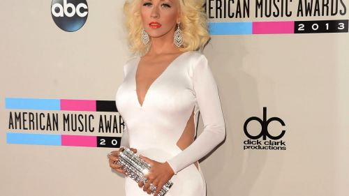 Christina Aguilera in hot white dress  HD Wallpaper