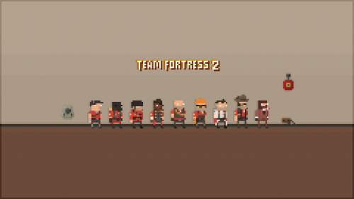 Download Team Fortress 2 Pixels Hd Wallpaper for Desktop and Mobiles