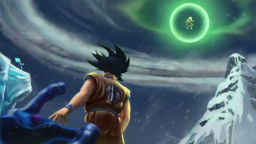 Goku Vegeta Vs Broly HD Wallpaper
