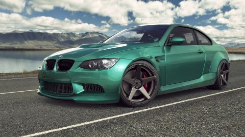 Green BMW M3 E92 HD Wallpaper