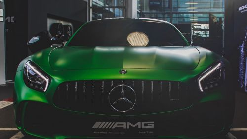Green Mercedes AMG HD Wallpaper