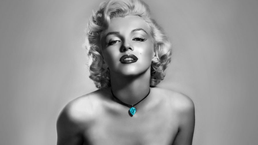 Marilyn Monroe black and white HD Wallpaper