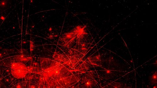 Red space abstraction HD Wallpaper