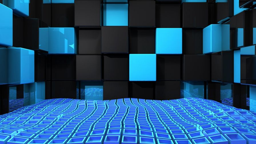 Space cubes HD Wallpaper