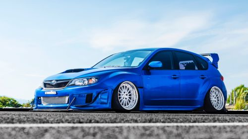 Subaru Impreza WRX Blue HD Wallpaper