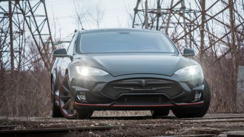 Tesla Model S headlights HD Wallpaper