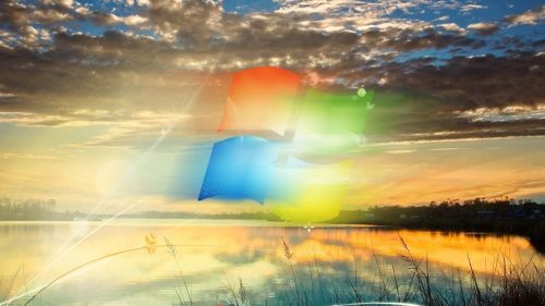 Windows 7 covered in clouds HD Wallpaper